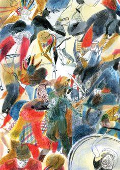 Over Sea, Under Stone Folio Illustrated Book illustrated by Laura Carlin - Books Laura Carlin, Storyboard, Collages, Artist Sketchbook, Layout, Children's Book Illustration, Gravure, Book Cover Design, Book Art