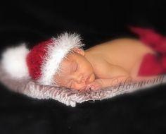 Baby SANTA Hat  Boy Girl Christmas PHOTO Prop  by pixieharmony. , via Etsy.