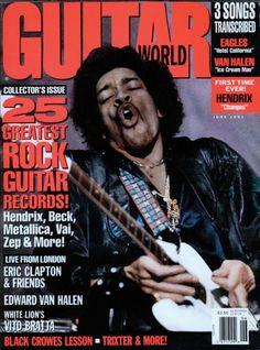 Guitar World June 1991 - Magazine Cover - Jimi hendrix