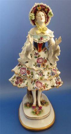 Volkstedt Antique German Porcelain Lady Ballerina Dancer Figurine   eBay