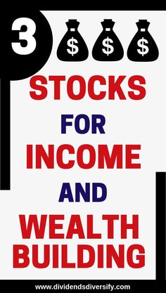 This article is about 3 top dividend stocks so you can build wealth from the passive income streams these investments offer. Dividends are the best form of passive income. Set up or add to your dividend stock investment portfolio with the stocks you learn Stock Market Investing, Investing In Stocks, Investing Money, Investment Tips, Investment Portfolio, Investment Property, Investment Group, Investment Companies, Finance Degree
