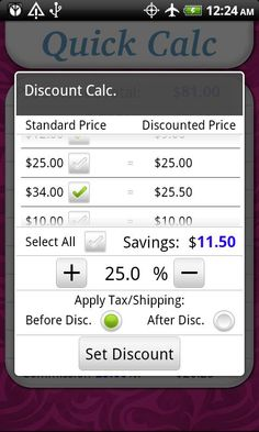 Great for this month's Thirty-One special!! Love this App, My Consultant Calc