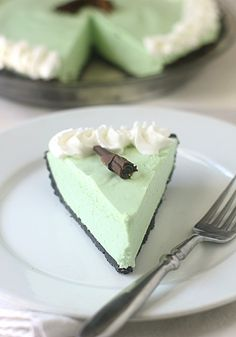 Grasshopper Pie - going to try this one as individual tartlets and see how it goes....