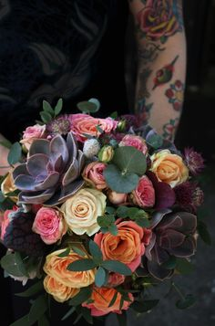 <3 So in love with these colours!! <3  Swallows & Damsons