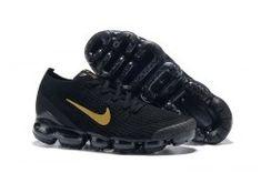 0d0a2688a9 Nike Air Vapormax Flyknit 2019 Black Gold Men's Running Shoes #SE008759