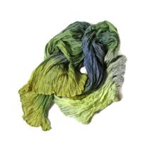 Silk Scarf Baltic Forest  ruffled Hand Dyed by Econicashop on Etsy, $35.00