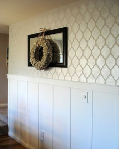 Stencils for accent wall, reusable wall stencils by Cutting Edge Stencils