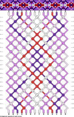 Muster # 83247, Streicher: 14 Zeilen: 22 Farben: 5