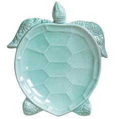 Vietri Incanto Mare Aqua Turtle Salad Plate Set