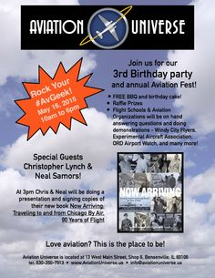 Aviation Universe Shop Event  3rd Birthday Party Aviation Fest and  Storewide Sales! Saturday 8b2a854ba8d0