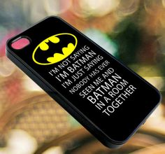 Not Batman  iPhone 4/4s/5/5s/5c Case  Samsung by diemondHard, $15.00