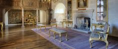 Long drawing room.  Berkeley Castle England