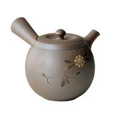 Tokyo Matcha Selection - Tokoname Pottery : FLOWER - Japanese Kyusu tea pot 300cc Ceramic fine mesh net, $127.00 (http://www.tokyo-matcha-selection.com/tokoname-pottery-flower-japanese-kyusu-tea-pot-300cc-ceramic-fine-mesh-net/)