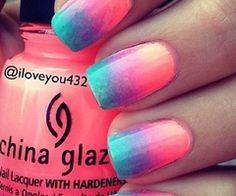 nails / Summer ombre nails