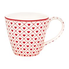 Lovely GreenGate's  mug HEAVEN WHITE available in the shop