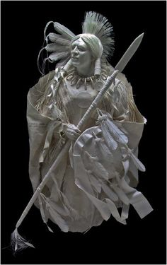 Pride of the Lakota   Eckman Fine Art:  Patty and Allen Eckman create highly detailed works in their hand made acid free cast paper sculptures.