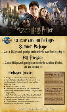All New Travel Packages for The Wizarding World of Harry Potter – Diagon Alley.  WE CAN GET IN AN HOUR EARLY WITH THIS