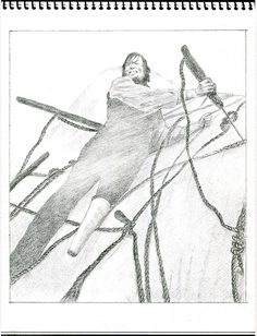 Capitan Ahab y Moby Dick.