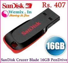 SanDisk Cruzer Blade 16GB Pen Drive Rs. 407
