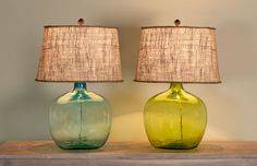 demijohn table lamps here's the type of lamp I was thinking about for you. I'm sure they're super expensive