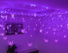Purple Butterfly LED lights Pinned for Kidfolio, the parenting mobile app that makes sharing a snap