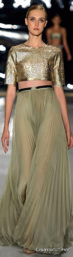 ADRIANA DEGREAS Summer 2015 Ready-to-Wear.   Jaglady #plissé #pleat #fashion