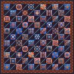 Civil War Quilts, Setting Ideas:  mock up an diagonal chain in alternate blocks, which looks good. A nice way to unify some very different blocks.