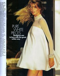 ☆ Claudia Schiffer | Photography by Gilles Bensimon | For Elle Magazine US | January 1991