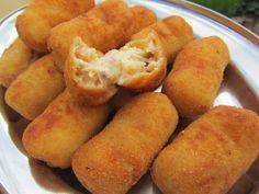 Deliciosas croquetas de pollo asado y jamón serrano, una combinación realmente estupenda!! Con Thermomix.  Leer más