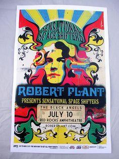 2013 Robert Plant Led Zeppelin Denver Concert Poster Sensational Space Shifters
