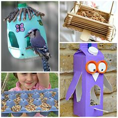 Here are 12 creative bird feeders for kids to make at home!