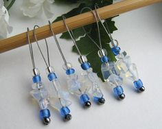 Knitting Stitch Markers Moonstone SemiPrecious Stones by yarnyoda, $18.00