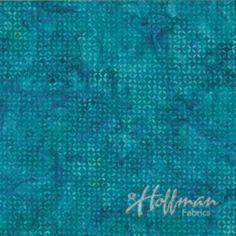 Hoffman Batiks - Bali-Turquoise Tea - P2023-61 Turquoise - Old Country Store Fabrics