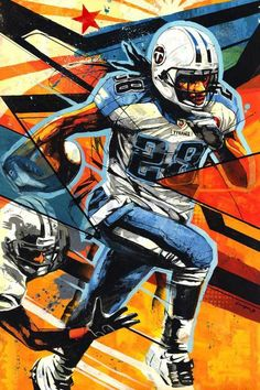 Tennessee Titans RB Chris Johnson by Japanese artist Dragon76