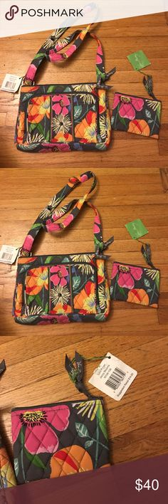 Vera Bradley jazzy blooms hipster & coin purse Brand-new with tags! Vera Bradley little hipster Crossbody purse with matching coin purse. Both bags are in the jazzy bloom print, and both in excellent condition. Great deal for both of these Vera Bradley bags! Message me with any questions. Check out my other Vera Bradley listings as well! Vera Bradley Bags Crossbody Bags