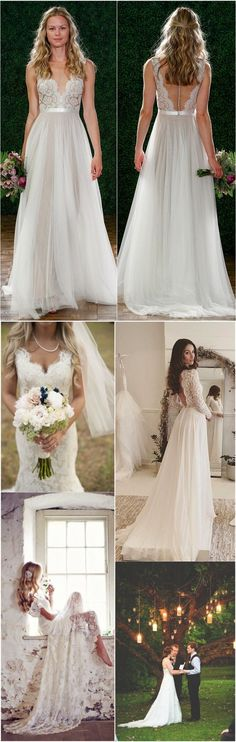 Rustic country wedding dresses ideas