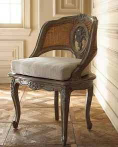 """""""Willow"""" Cane Chair - traditional - Chairs - Horchow"""