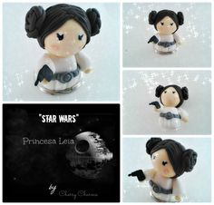 Princesa Leia chibi (cold porcelain/clay charms) For sale on Facebook: Cherry Charms