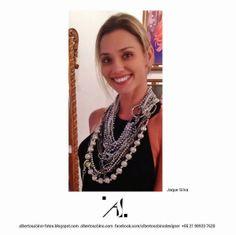 Alberto Sabino - Fashion Jewelry: Statement Necklace.  Three independent pieces.  R$...