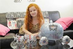 Disney Channel Stars Share Their Halloween Pumpkins! Francesca Capaldi from Dog with a Blog who used five silver spray painted pumpkins to recreate Cinderella's pumpkin carriage!