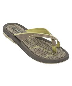 63e9e601018a Look at this Rider Sandals Green  amp  Brown Dunas V Flip-Flop on