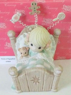 Visions of Sugar Plums Precious Moments Figurines, O Holy Night, My Precious, Christmas Things, Christmas Ornaments, Girly Things, Coloring Pages, In This Moment, Keepsakes