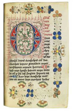 BOOK OF HOURS AND PRAYERBOOK, in Dutch, ILLUMINATED MANUSCRIPT ON VELLUM AND…