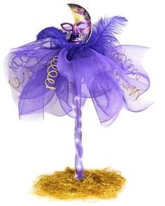 Party Ideas by Mardi Gras Outlet: Masquerade Column Deco Mesh Centerpiece: Tutorial
