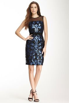 Taylor Sequin Print Sheath Dress by Non Specific on @HauteLook