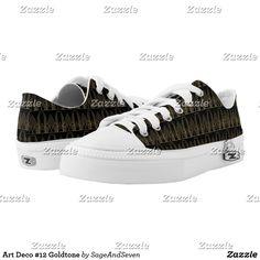 Art Deco #12 Goldtone Low-Top Sneakers #artdeco #deco #artnouveau #vintage