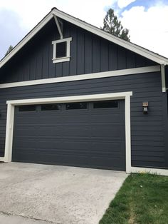 Is Charcoal the new Black? Is Charcoal the new Black? - Elm Drive Designs<br> Charcoal gray shades you will want to try at home Exterior Gray Paint, Exterior House Siding, Exterior Paint Colors For House, Paint Colors For Home, Exterior Colors, Dark Siding House, Siding Colors For Houses, Cafe Exterior, Restaurant Exterior