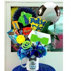 Father Birthday, Balloon Gift, Candy Bouquet, Pink Candy, Happy Day, Party Gifts, Gift Bags, Fathers Day, Diy And Crafts