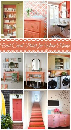 Need to find the best coral paint color for your home! Look no further, we've compiled a great bunch of samples for you to checkout before you paint! Coral Paint Colors, Light Pink Paint, Coral Color, Interior Decorating, Interior Design, Decorating Tips, Bedroom Colors, Bedroom Decor, Home Projects