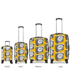 Gillian Kyle has designed a range of very Scottish suitcases in various sizes These quirky and very unique Scottish Pride cases will confirm your true identity at any airport. Dare to be scottishly different.